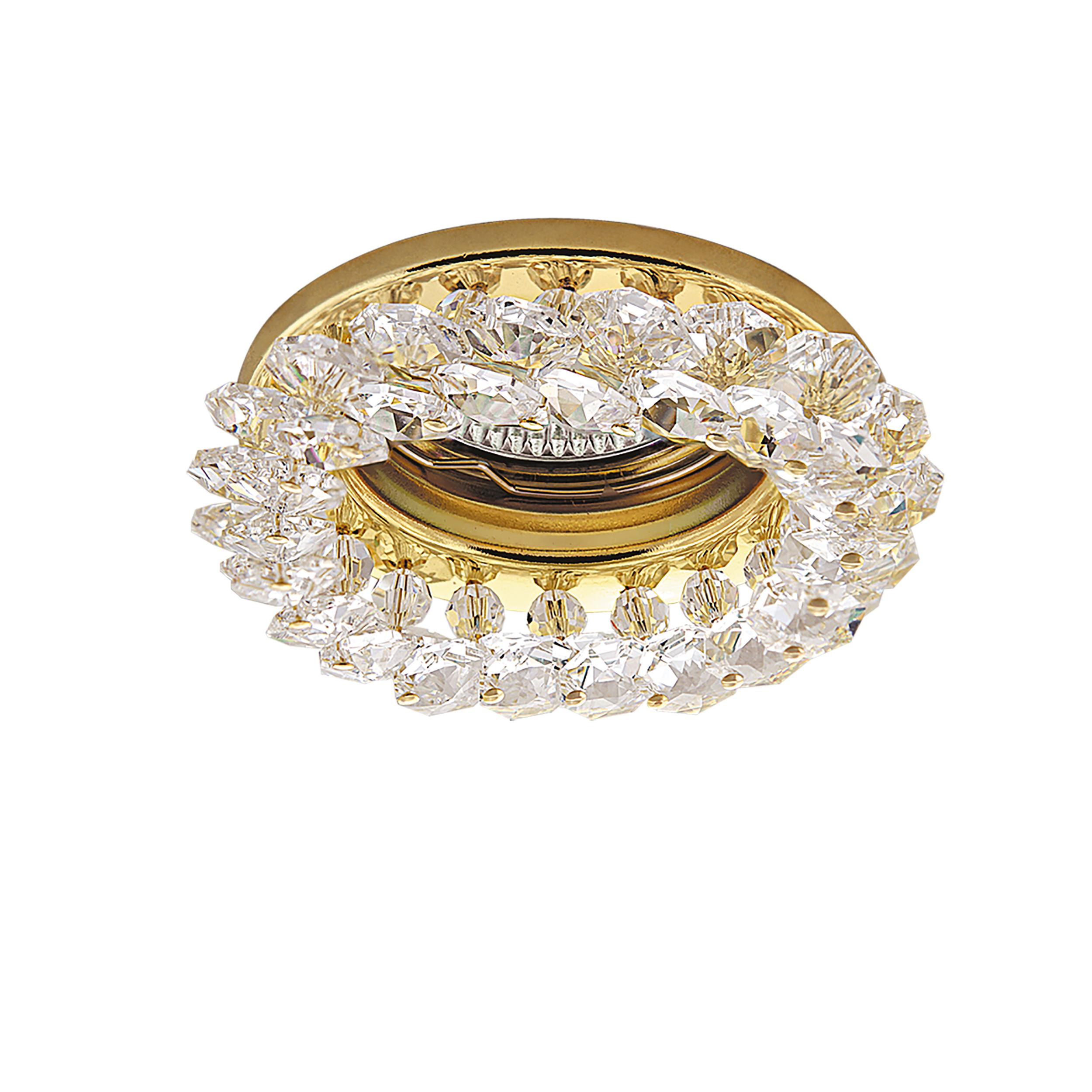 Встраиваемый светильник Lightstar Onora 030302, 1xGU5.3x50W, золото, прозрачный, металл, стекло - фото 1