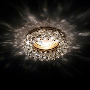 Встраиваемый светильник Lightstar Onora 030302, 1xGU5.3x50W, золото, прозрачный, металл, стекло - миниатюра 3