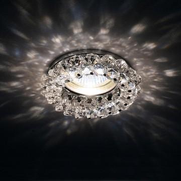 Встраиваемый светильник Lightstar Onora 030304, 1xGU5.3x50W, прозрачный, хром, металл, стекло - миниатюра 3