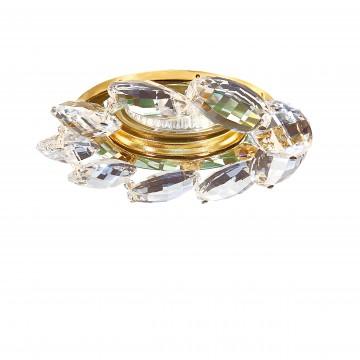 Встраиваемый светильник Lightstar Noce 031902, 1xGU5.3x50W, золото, прозрачный, металл, стекло
