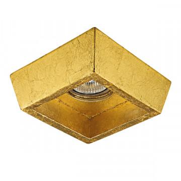 Встраиваемый светильник Lightstar Extra 041022, 1xGU5.3x50W, матовое золото, пластик