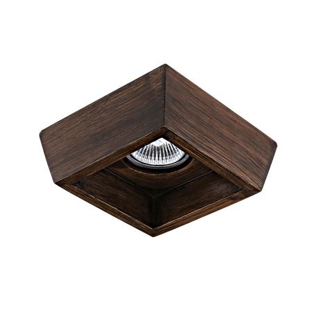 Встраиваемый светильник Lightstar Extra 041029, 1xGU5.3x50W, коричневый, пластик