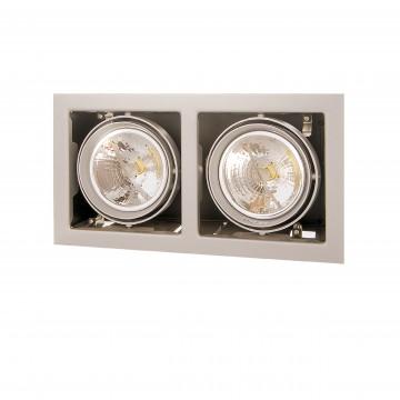 Встраиваемый светильник Lightstar Cardano 214127, 2xG53AR111x50W, сталь, металл