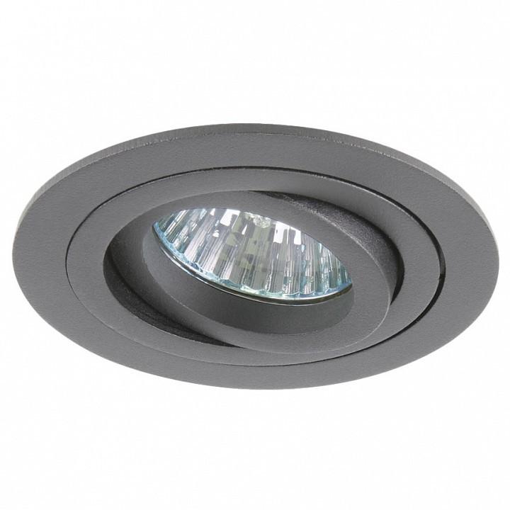 Встраиваемый светильник Lightstar Intero 16 214219, 1xGU10x50W, серый, металл - фото 1