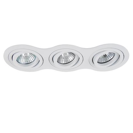 Встраиваемый светильник Lightstar Intero 16 214236, 3xGU10x50W, белый, металл