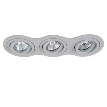 Встраиваемый светильник Lightstar Intero 16 214239, 3xGU10x50W, серый, металл