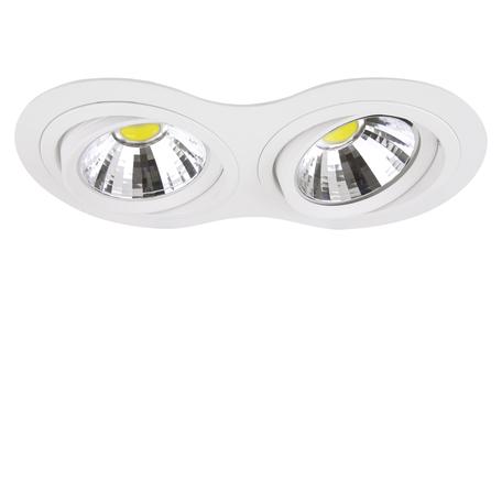Встраиваемый светильник Lightstar Intero 111 214326, 2xG53AR111x50W, белый, металл