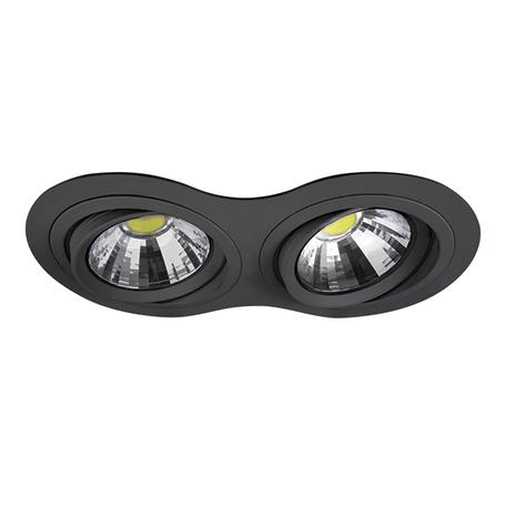 Встраиваемый светильник Lightstar Intero 111 214327, 2xAR111x50W, черный, металл