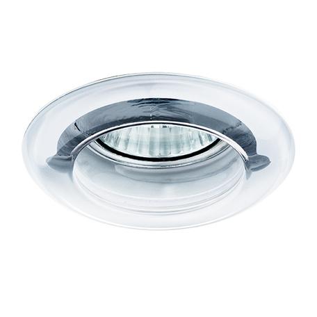 Встраиваемый светильник Lightstar Anello 002230, 1xGU5.3x50W, хром, прозрачный, стекло