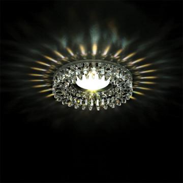 Встраиваемый светильник Lightstar Ingrano 002534, 1xGU5.3x50W, хром, прозрачный, металл, стекло - миниатюра 2