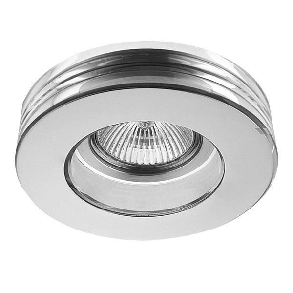 Встраиваемый светильник Lightstar Lei 006114, 1xGU5.3x50W, хром, стекло - фото 1