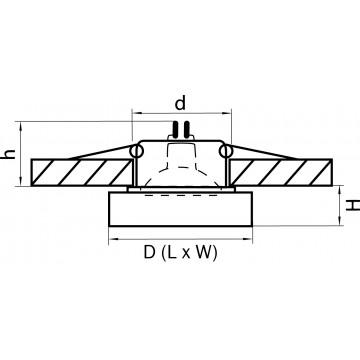Схема с размерами Lightstar 006114