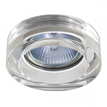 Встраиваемый светильник Lightstar Lei Mini 006130, 1xGU5.3x50W, прозрачный, стекло