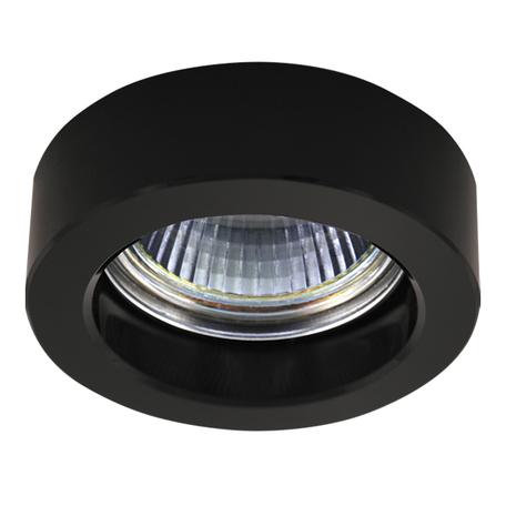 Встраиваемый светильник Lightstar Lei Mini 006137, 1xGU5.3x50W, черный, стекло