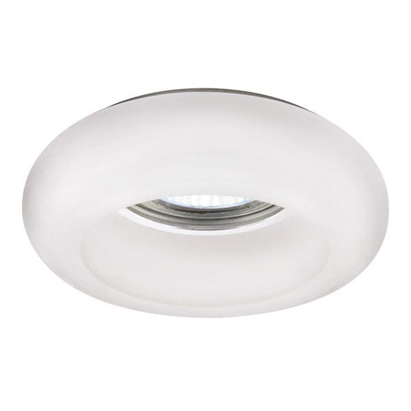 Встраиваемый светильник Lightstar Tondo 006201, 1xGU5.3x50W, белый, стекло - фото 1