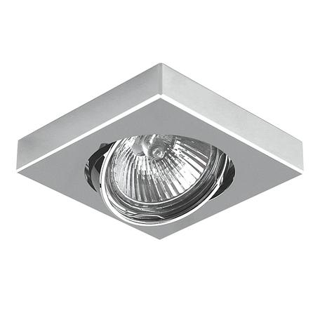 Встраиваемый светильник Lightstar Mattoni 006244, 1xGU5.3x50W, матовый хром, хром, металл