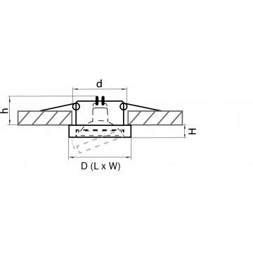 Схема с размерами Lightstar 006244