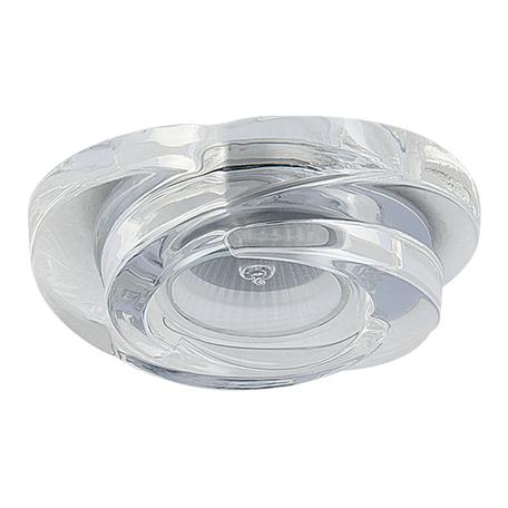 Встраиваемый светильник Lightstar Spira 006400, 1xGU5.3x50W, прозрачный, стекло