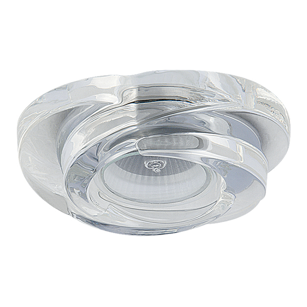 Встраиваемый светильник Lightstar Spira 006400, 1xGU5.3x50W, прозрачный, стекло - фото 1