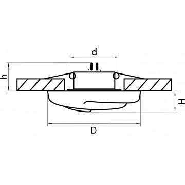 Схема с размерами Lightstar 006400