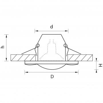 Схема с размерами Lightstar 006880