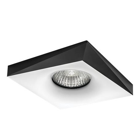 Встраиваемый светильник Lightstar Miriade 011006, 1xGU5.3x50W, черный, черно-белый, металл