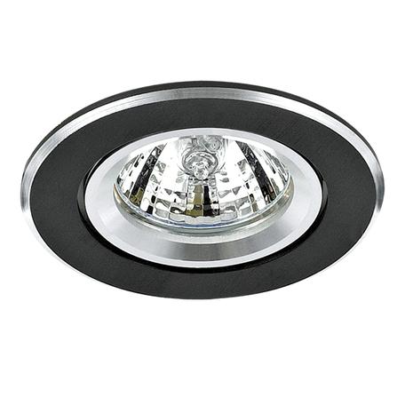 Встраиваемый светильник Lightstar Banale Weng 011008, 1xGU5.3x50W, венге, металл