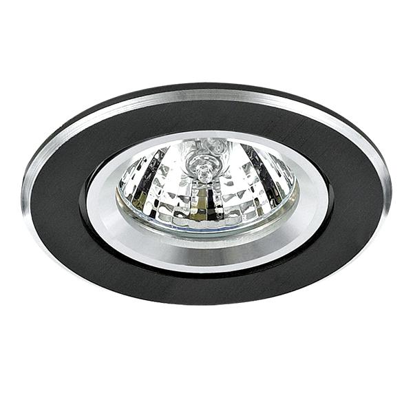 Встраиваемый светильник Lightstar Banale Weng 011008, 1xGU5.3x50W, венге, металл - фото 1