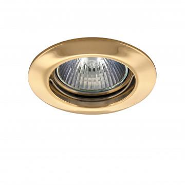 Встраиваемый светильник Lightstar Lega 16 011012, 1xGU5.3x50W, золото, металл