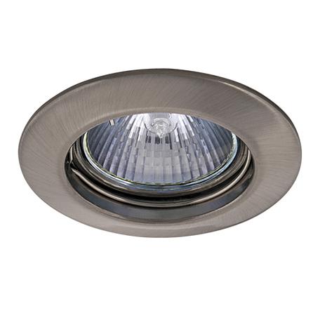 Встраиваемый светильник Lightstar Lega 16 011015, 1xGU5.3x50W, никель, металл