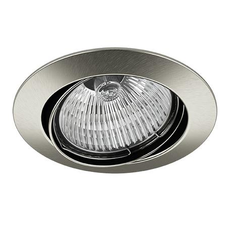 Встраиваемый светильник Lightstar Lega 16 011025, 1xGU5.3x50W, никель, металл