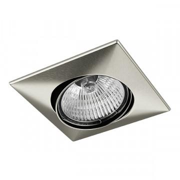 Встраиваемый светильник Lightstar Lega 16 011035, 1xGU5.3x50W, никель, металл