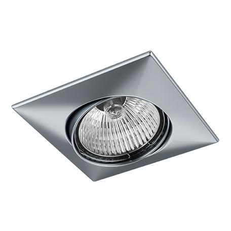 Встраиваемый светильник Lightstar Lega 16 011039, 1xGU5.3x50W, матовый хром, металл