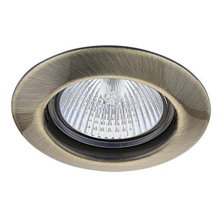 Встраиваемый светильник Lightstar Teso Fix 011071, 1xGU5.3x50W, бронза, металл
