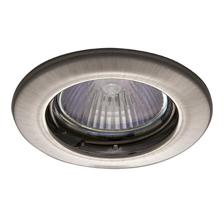 Встраиваемый светильник Lightstar Teso Fix 011075, 1xGU5.3x50W, никель, металл