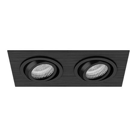 Встраиваемый светильник Lightstar Singo 011622, 1xGU5.3x50W, черный, металл