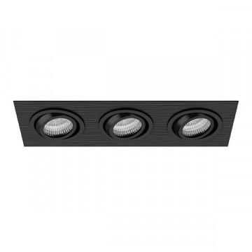 Встраиваемый светильник Lightstar Singo 011623, 1xGU5.3x50W, черный, металл