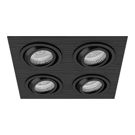 Встраиваемый светильник Lightstar Singo 011624, 1xGU5.3x50W, черный, металл