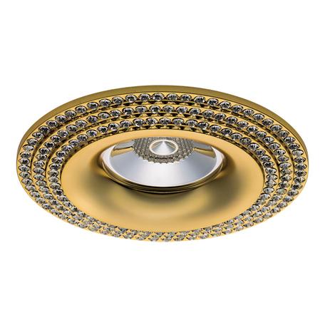 Встраиваемый светильник Lightstar Miriade 011972, 1xGU5.3x50W, золото, металл со стеклом