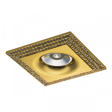 Встраиваемый светильник Lightstar Miriade 011982, 1xGU5.3x50W, золото, металл со стеклом