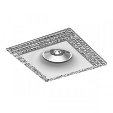 Встраиваемый светильник Lightstar Miriade 011986, 1xGU5.3x50W, белый, металл со стеклом