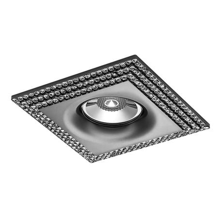Встраиваемый светильник Lightstar Miriade 011987, 1xGU5.3x50W, черный хром, металл со стеклом