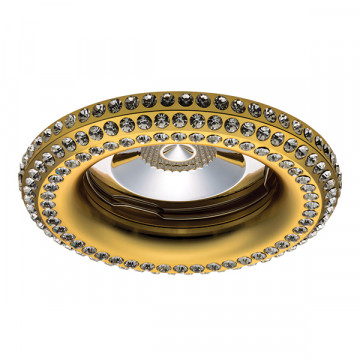 Встраиваемый светильник Lightstar Miriade 011992, 1xGU5.3x50W, золото, металл со стеклом