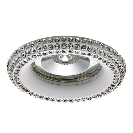 Встраиваемый светильник Lightstar Miriade 011996, 1xGU5.3x50W, белый, металл со стеклом