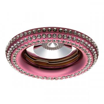 Встраиваемый светильник Lightstar Miriade 011998, 1xGU5.3x50W, розовый, металл со стеклом
