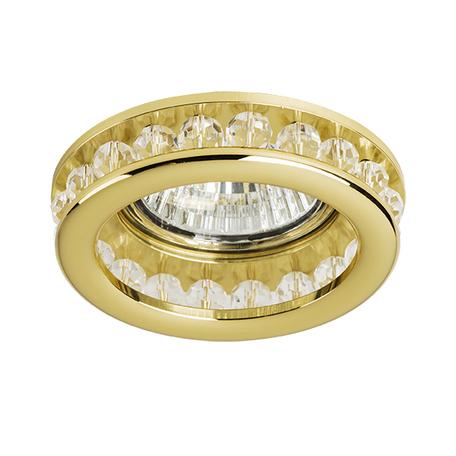 Встраиваемый светильник Lightstar Monilo 031702, 1xGU5.3x50W, золото, прозрачный, металл со стеклом