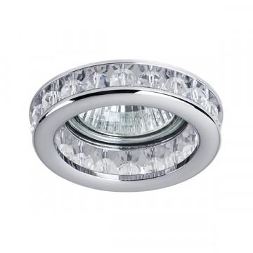 Встраиваемый светильник Lightstar Monilo 031704, 1xGU5.3x50W, хром, прозрачный, металл со стеклом