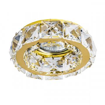 Встраиваемый светильник Lightstar Onda 032702, 1xGU5.3x50W, золото, прозрачный, металл, хрусталь