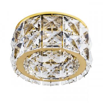 Встраиваемый светильник Lightstar Onda Grande 032802, 1xGU5.3x50W, золото, прозрачный, металл, хрусталь
