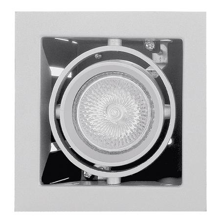 Встраиваемый светильник Lightstar Cardano 214010, 1xGU5.3x50W, белый, металл